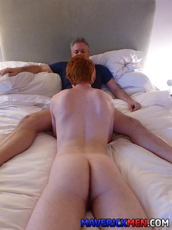 Maverick-Men-Hunter-Josh-Big-Cock-Daddys-Fucking-Ginger-Redhead-Amateur-Gay-Porn-19 Young Virgin Ginger Twink Gets Two Thick Daddy Cocks Bareback