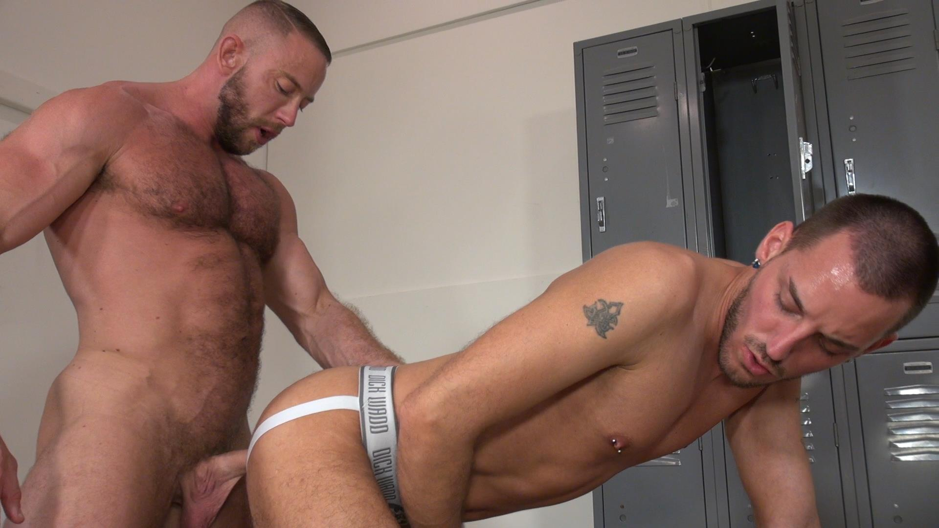 Raw-and-Rough-Gio-Ryder-and-Shay-Michaels-and-Parker-Jock-Gets-barebacked-by-two-muscle-daddy-Amateur-Gay-Porn-01 Jock Sniffing Slut Gio Ryder Takes Bareback Cocks Up The Ass