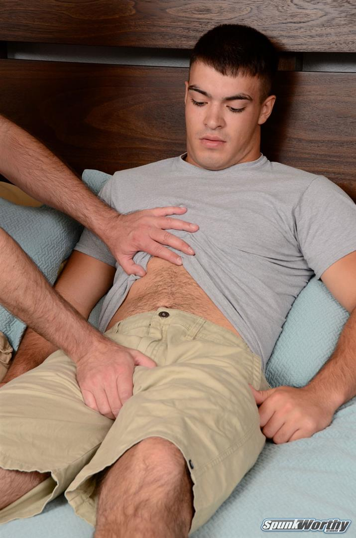 SpunkWorthy-Nevin-Straight-Marine-With-A-Hairy-Ass-Getting-A-Gay-Blowjob-Amateur-Gay-Porn-02 Straight Marine Gets Jerked and Sucked By Another Guy