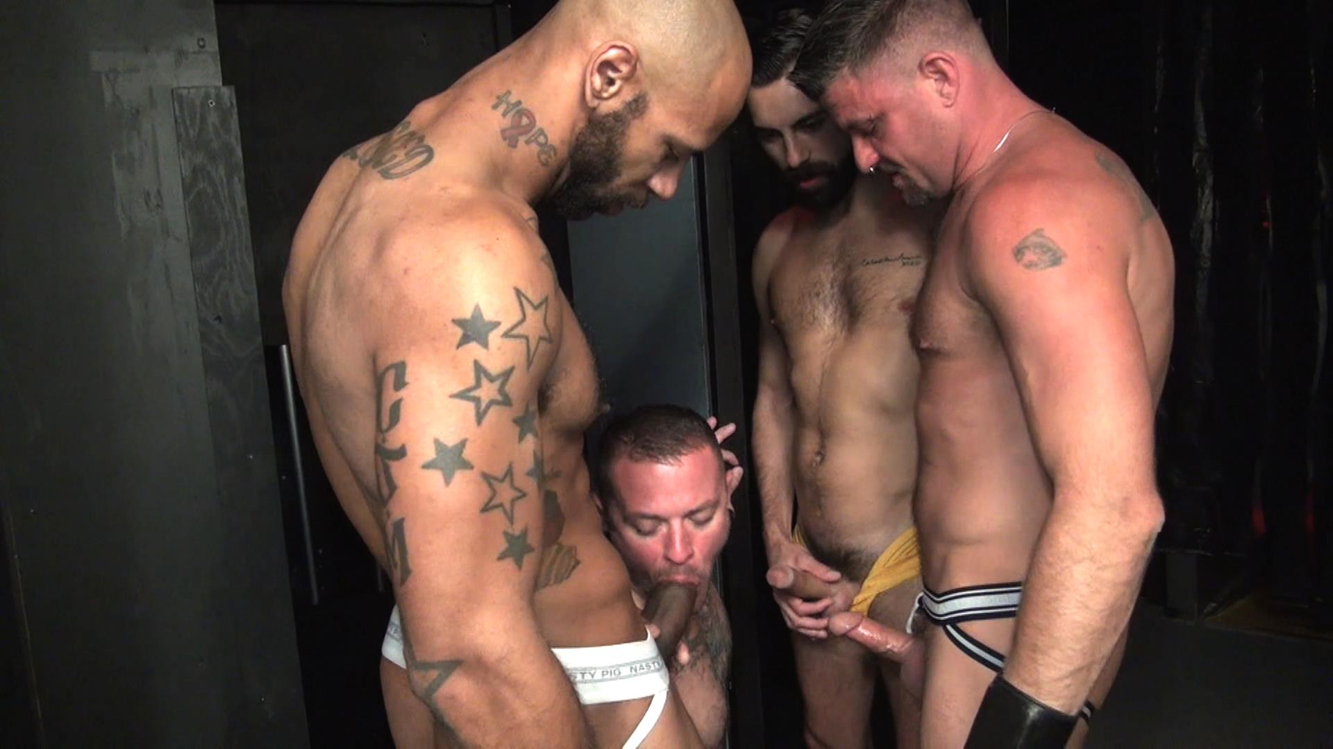 Raw Fuck Club Raw Fuck Club Max Cameron and Christian Matthews and Kory Mitchel and Dean Brody Bareback Bathhouse Amateur Gay Porn 4 Four Way Bareback Fucking And Cum Fest At The Bathhouse