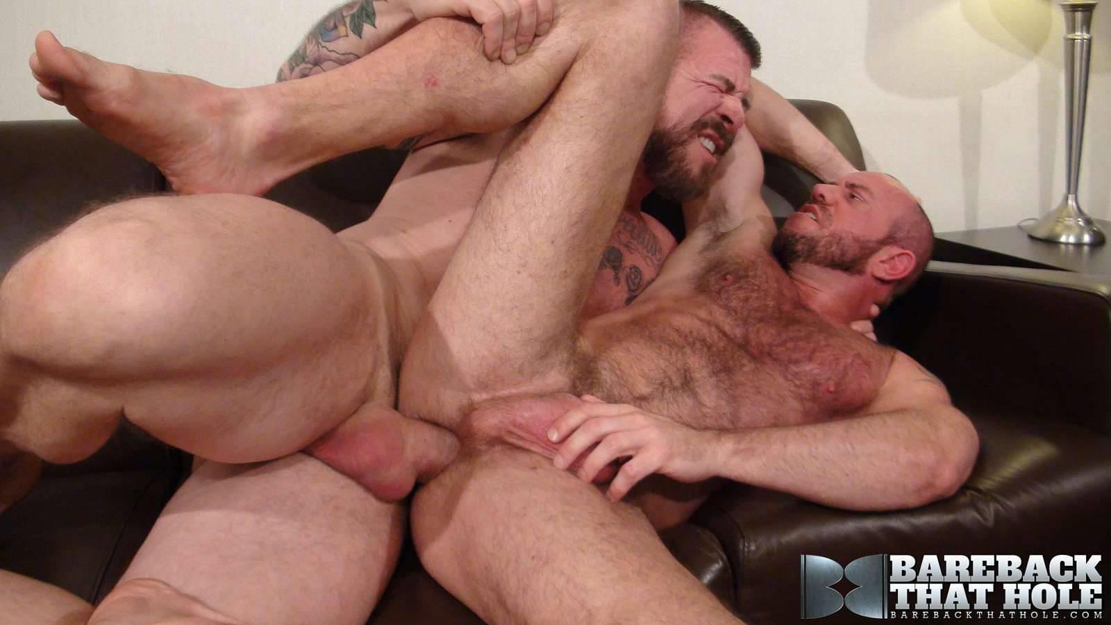 Bareback-That-Hole-Rocco-Steele-and-Matt-Stevens-Hairy-Muscle-Daddy-Bareback-Amateur-Gay-Porn-19 Hairy Muscle Daddy Rocco Steele Breeding Matt Stevens