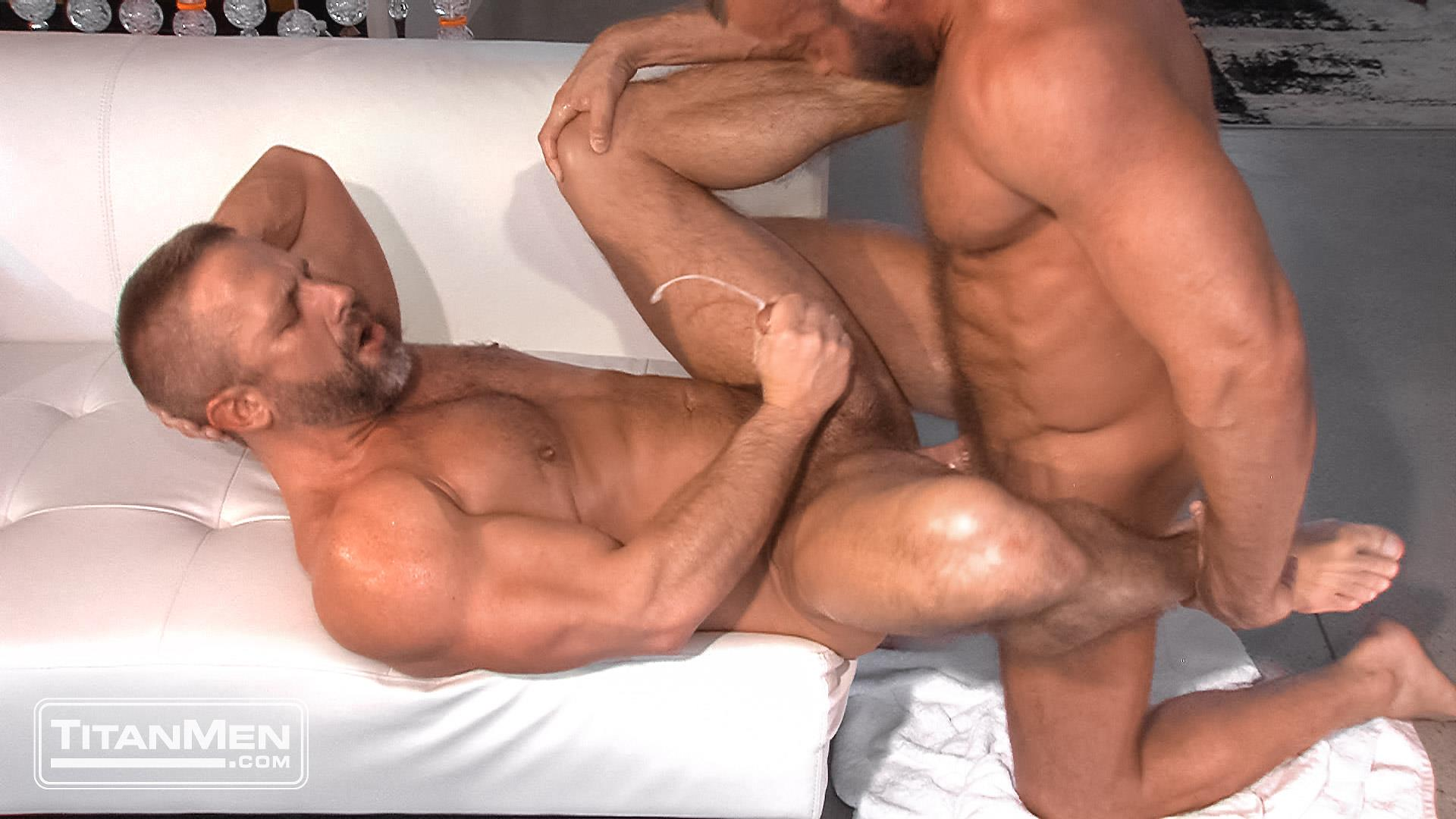 Titanmen-Titan-Hunter-Marx-and-Dirk-Caber-Hairy-Muscle-Daddy-Fuck-Amateur-Gay-Porn-44 Dirk Carber Gets Fucked Hard By Another Muscle Daddy With A Thick Cock